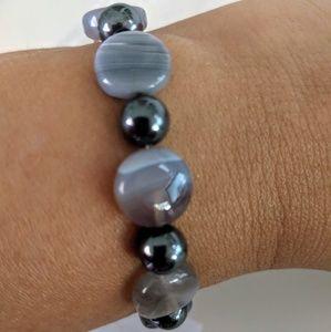Hematite Grey gemstone bracelet